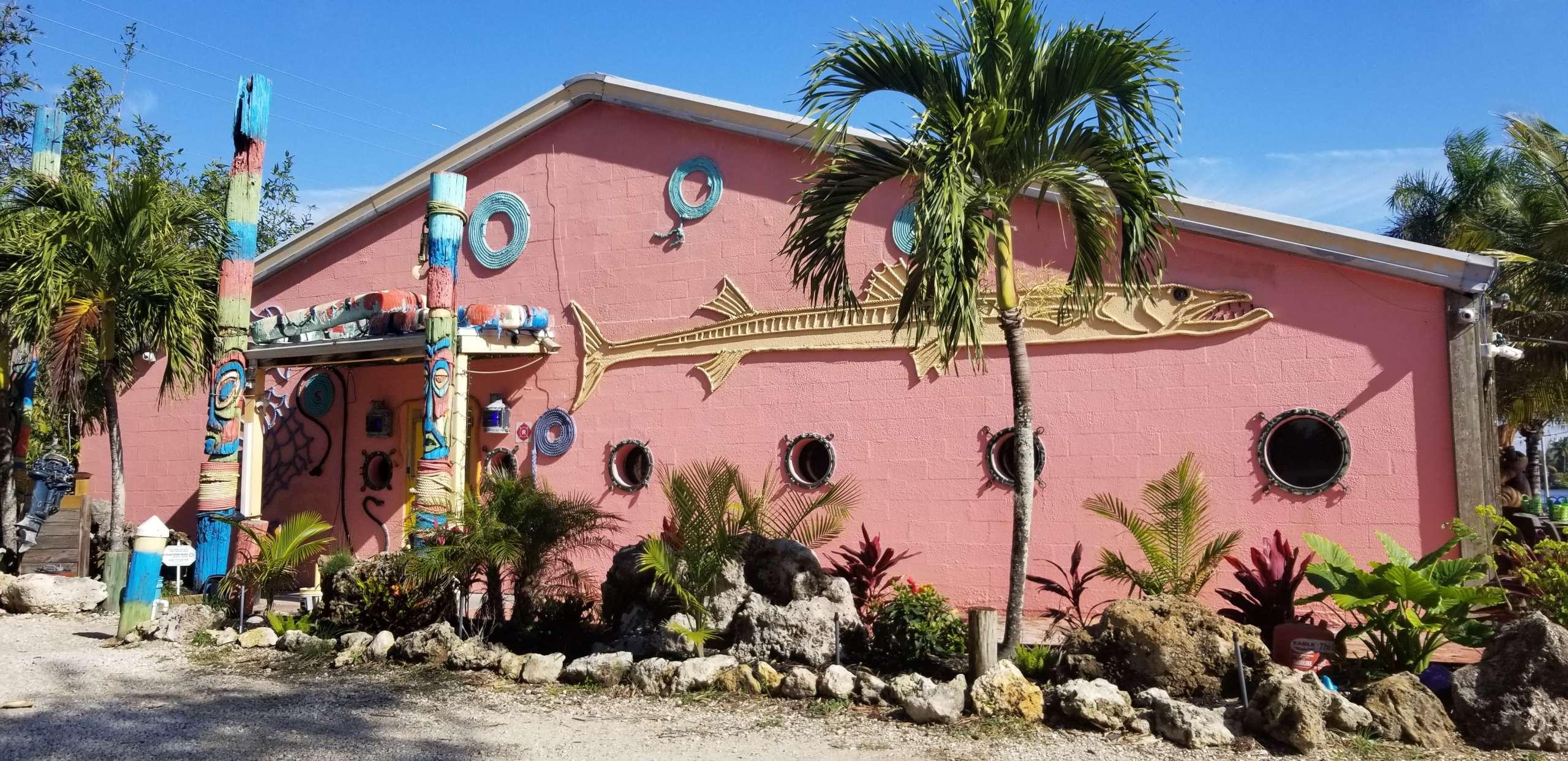 waterfront front of building-restaurant-matlacha