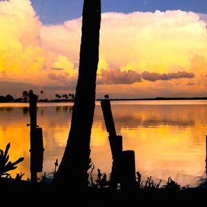 Yucatan-Waterfront-SUnset
